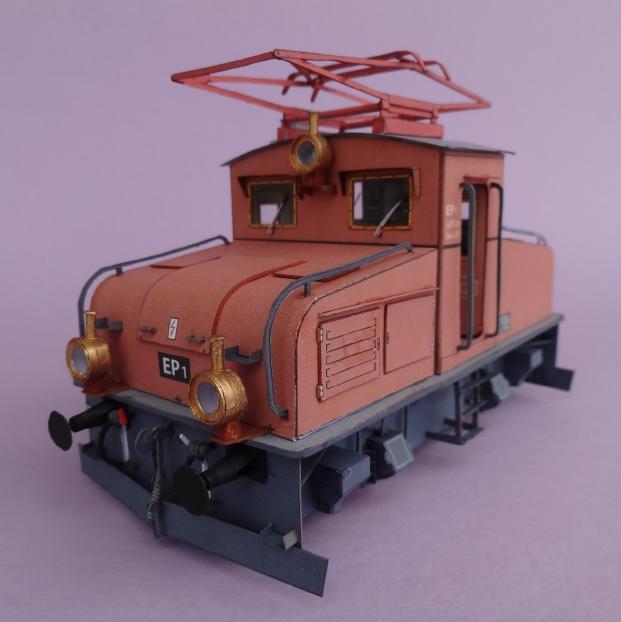 E-Lok EP1 der Kgl.Bay.Staatsbahn von HS-Modell, 1:45 Dsc00416