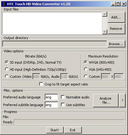 [Tuto/Information/Logiciel] Encoder vos vidéos, pour HD2 sur Android Gui10