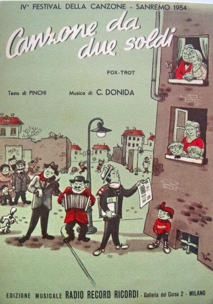 FESTIVAL DI SANREMO 1954: I CANTANTI - LE CANZONI - I TESTI Spa02910