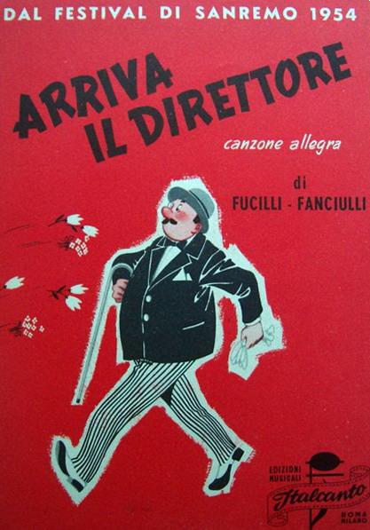 FESTIVAL DI SANREMO 1954: I CANTANTI - LE CANZONI - I TESTI Spa08410