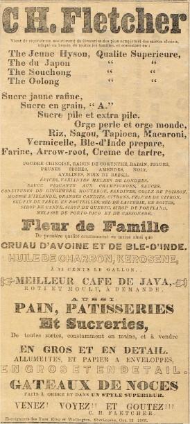 c.h.fletcher  sherbrooke etiquette de biere  1890  environ  Ca_fle10