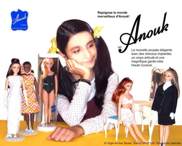 La poupée mannequin Caprice, et sa reproduction actuelle, Anouk 2015-110