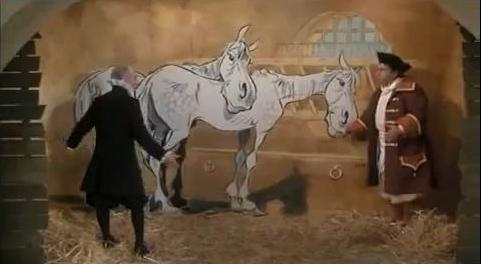 """Les chevaux d'Uderzo dans """"l'Avare"""" avec De Funes Captur29"""