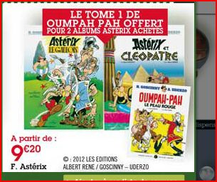 Un album d'Oumpah-Pah offert à l'achat de deux albums d'Astérix Captur33