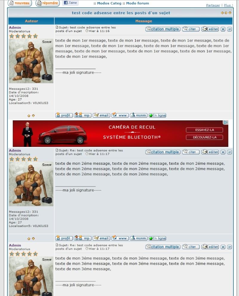 mettre ma propre publicité adsense sur mon forum 03-02-10