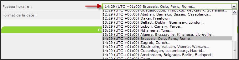 Optimisation du système de Fuseau horaire 10-10-12
