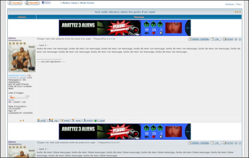 mettre ma propre publicité adsense sur mon forum Adsens12