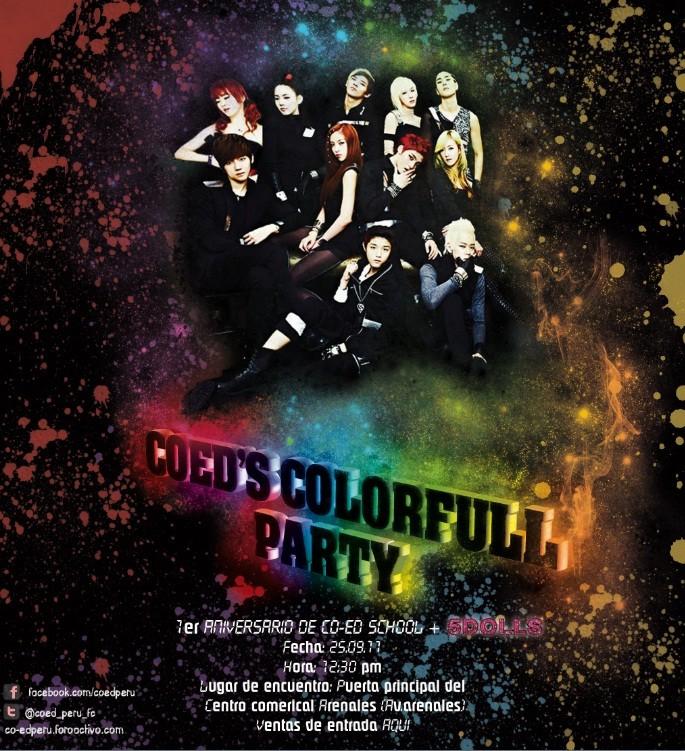 CO-ED's COLORFULL PARTY (1er ANIVERSARIO DE CO-ED + 5DOLLS ) Afiche11