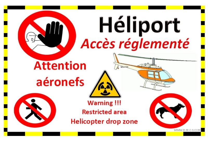 Création zone hélicoptères sur le site de la piste Captur44