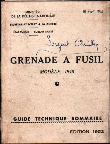 1950, facicules MAT49, PAK50 et grenade à fusil 19490410