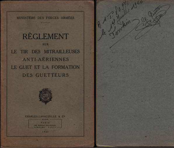 1950, manuels d'instruction militaire 19500713