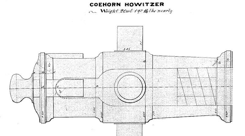 Obusier howitzer anglais, sur affût de campagne Coehor10