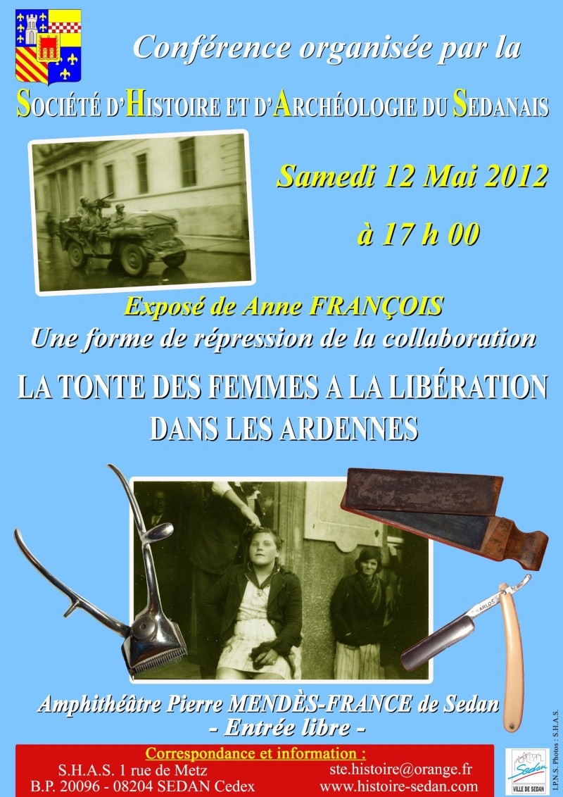 Conférence le 12 Mai 2012 - Une forme de répression de la collaboration la tonte des femmes à la libération dans les Ardennes. Confer11