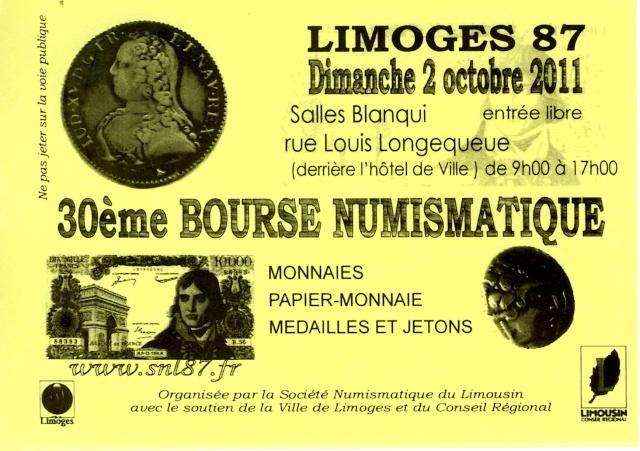 30ème Bourse numismatique à Limoges Affich13