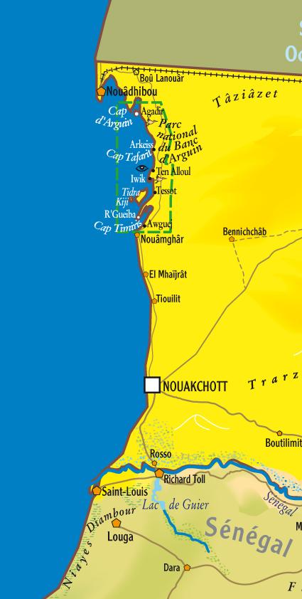 Mauritanie, comment faire ? D'autres cyclistes à cette époque ? Carte-10