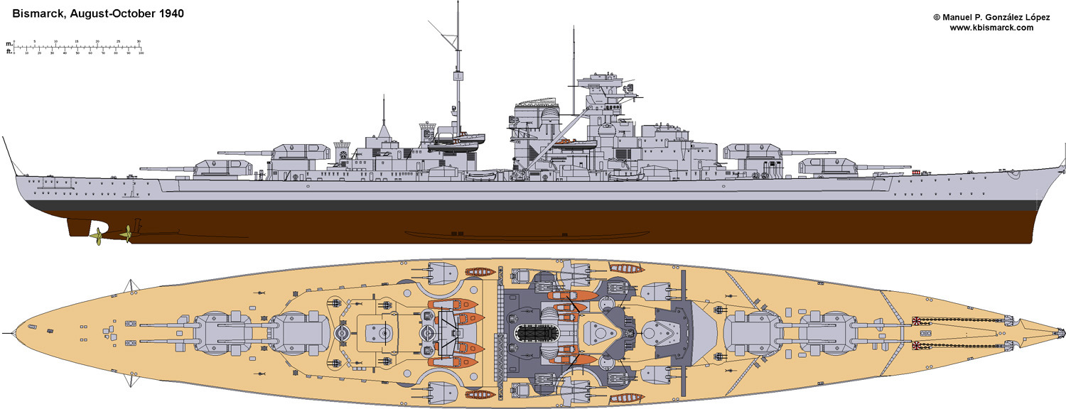 Costruisci la Bismarck Collezione  Hachette in Edicola Bism0011