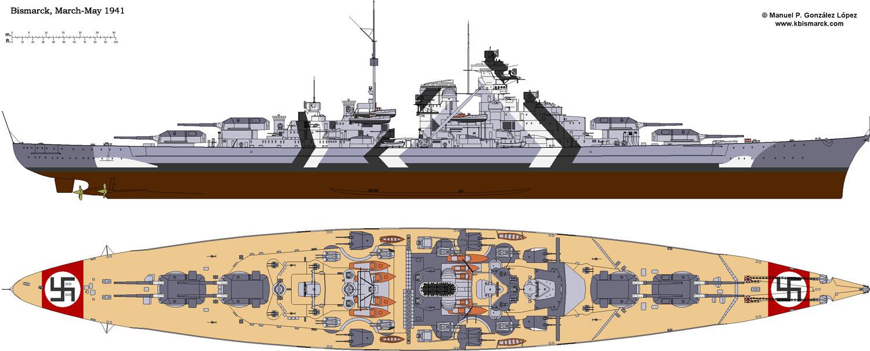 Costruisci la Bismarck Collezione  Hachette in Edicola Bism4010
