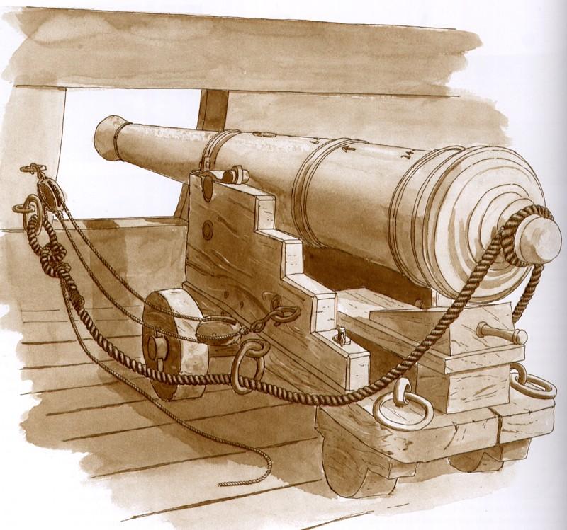 sovereign of the seas di henry morgan - Pagina 3 Cannon10