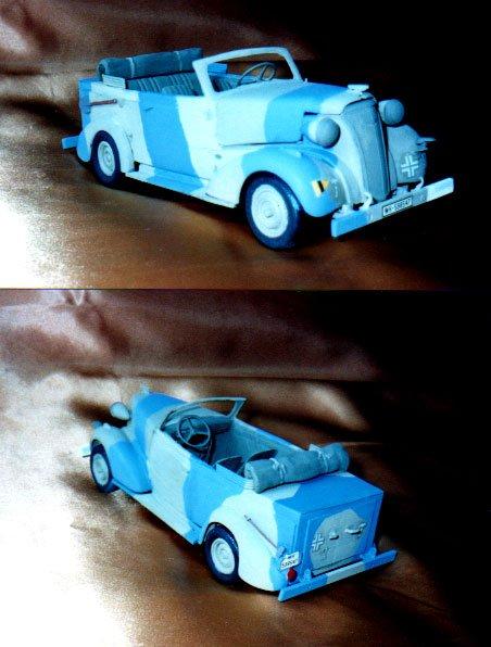 CHEVROLET 1936 transformé en command car (AMT 1/24éme) 29304610