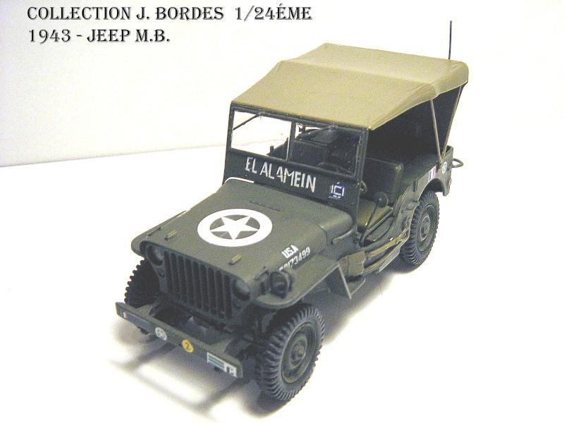 JEEP MB - 2éme DB - EL ALAMEIN 1943 - Italeri 1/24éme A110