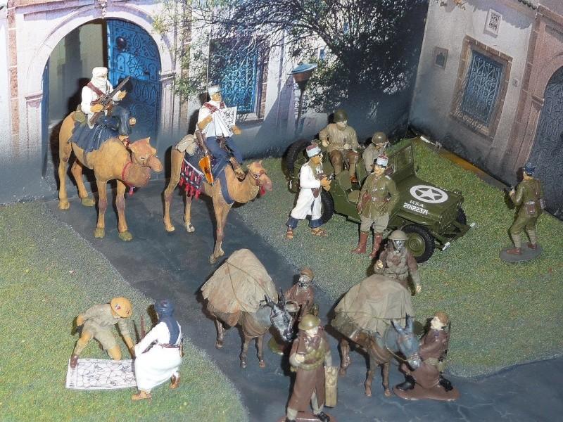 SUD TUNISIEN - Fin 1942 - Troupes Méharistes effectuant une jonction . P1040040