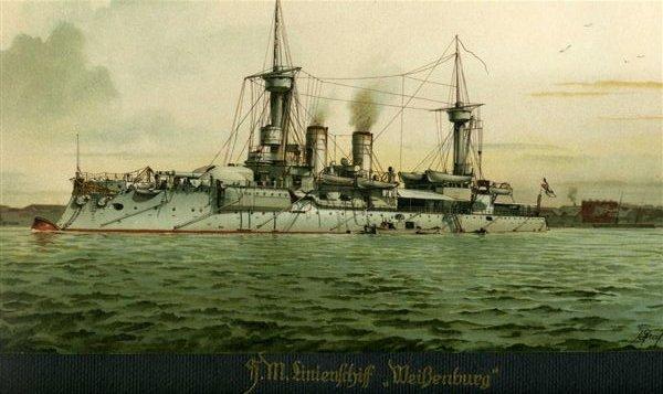 croiseur SMS Kolmar Weisse10