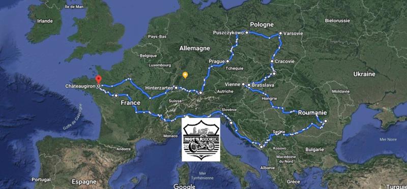 Road trip Europe de l'Ouest et centrale 2019 Carte_11