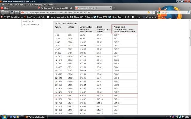 Vendeur ebay facture plus que FDP réel Royal11