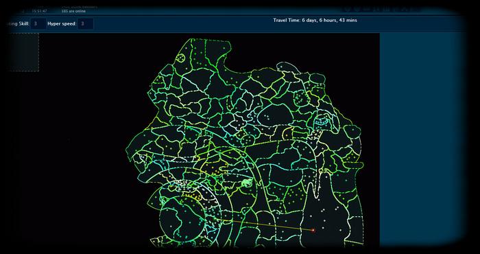 Les Temps de trajets spatiaux 2012-110