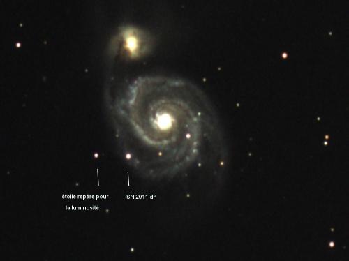la fin de SN2011dh ? ... petit rappel M51cro10