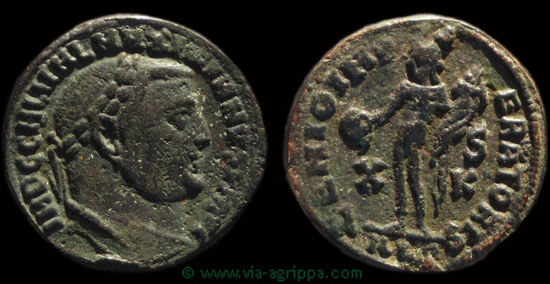 Rubans sur Antoninien de Postume Bi17010
