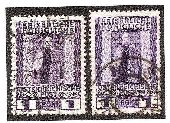 Zähnungsabarten am 1908 jubiläum marken Format10