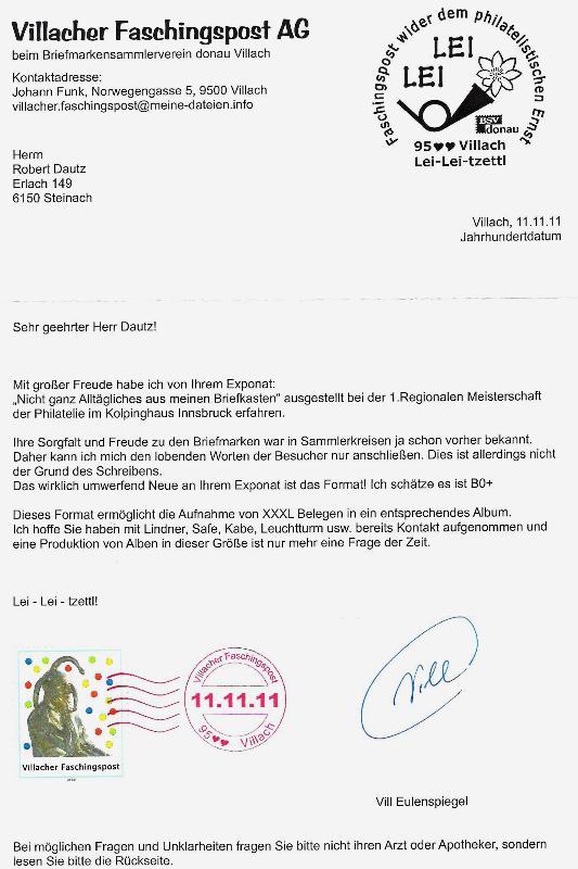 Liechtenstein - 11.11.11 Jahrhundertdatum des Faschings Jahrhu10