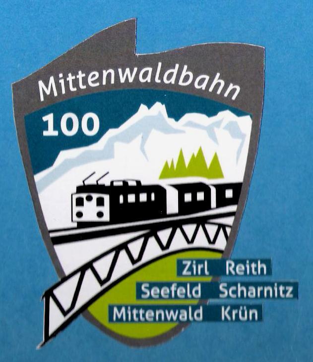 100 Jahre Mittenwaldbahn  Logo110