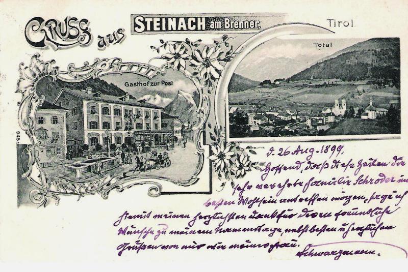 Alte Ansichten von Steinach - Mein Heimatort ganz nostalgisch Steina19