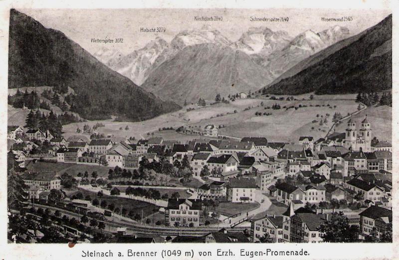 Alte Ansichten von Steinach - Mein Heimatort ganz nostalgisch Steina30