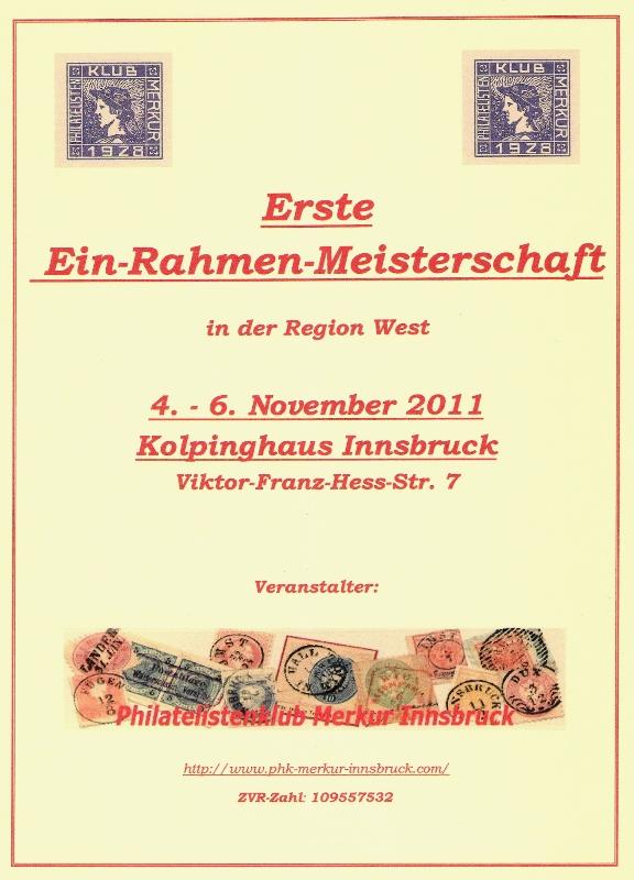 4. - 6. 11. Erste Ein-Rahmen-Meisterschaft der Philatelie in Westösterreich und Großtauschtag Vorsch10