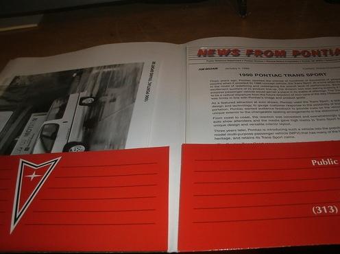 Vends dossier de presse US sur le Pontiac Trans Sport (VENDU) Bbbmbj10