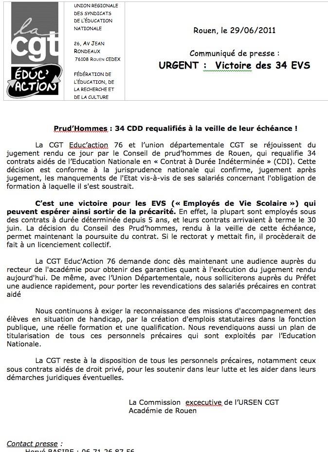 EVS-AVS: un collectif se crée dans l'académie pour lutter Captur10