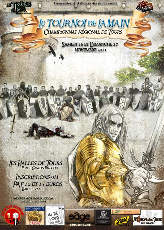 [CR DE TOURS 2011] 26 et 27 NOVEMBRE TOURNOI DE LA MAIN - PREINSCRIPTIONS Affich11