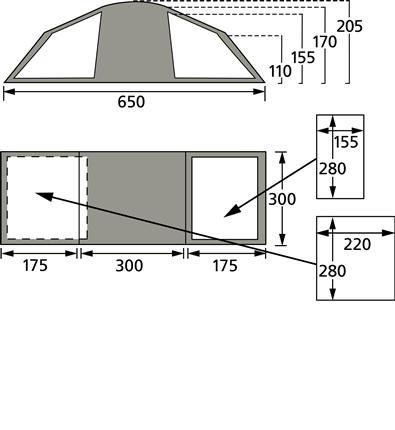 6 berth quick erect tent Khyam_13