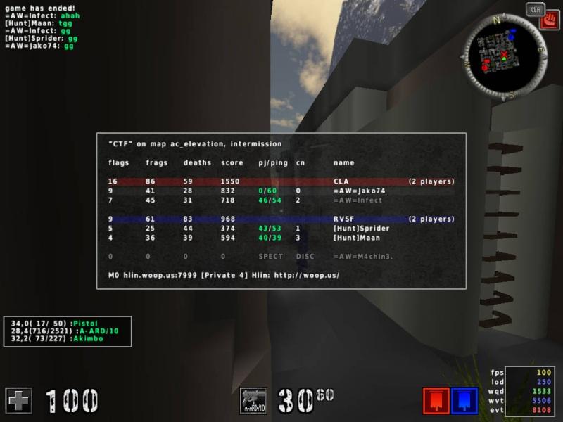 =AW= vs [Hunt] [2:0] 20120213