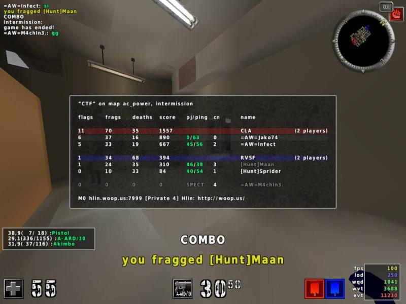 =AW= vs [Hunt] [2:0] 20120214