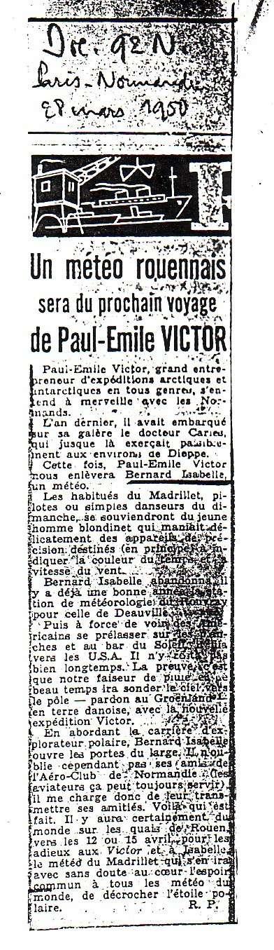 Bernard Izabelle, explorateur polaire cauchois Parisn14
