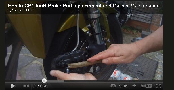 [vidéo] Changement plaquettes de frein avant Bnf10
