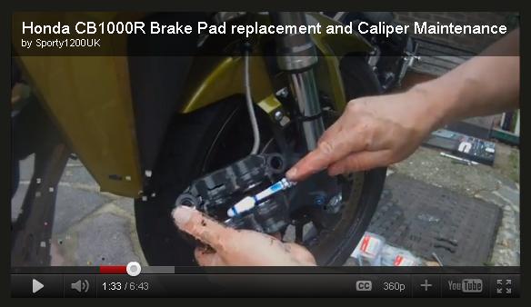 [vidéo] Changement plaquettes de frein avant Bnf11