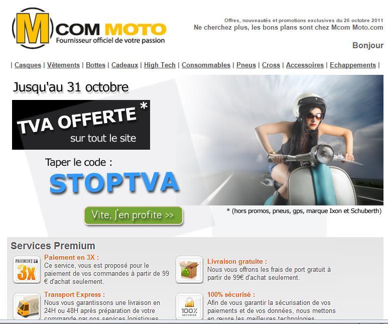 Code promo Mcom Moto Mcom_m10