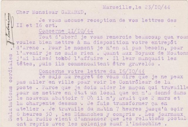 Reprise des relations postales avec les colonies sauf l'Indochine Patain14