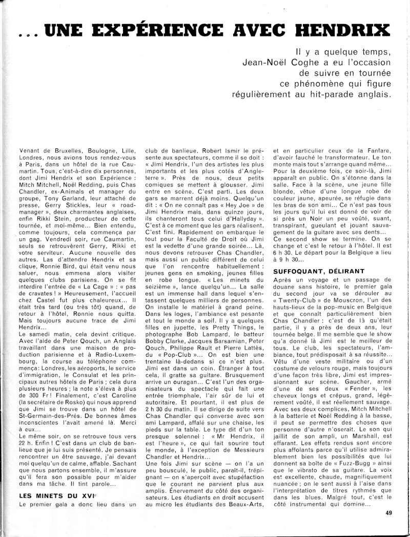 Tournée franco-belge de 1967 : chronique de Jean-Noël Coghe 1-tour10