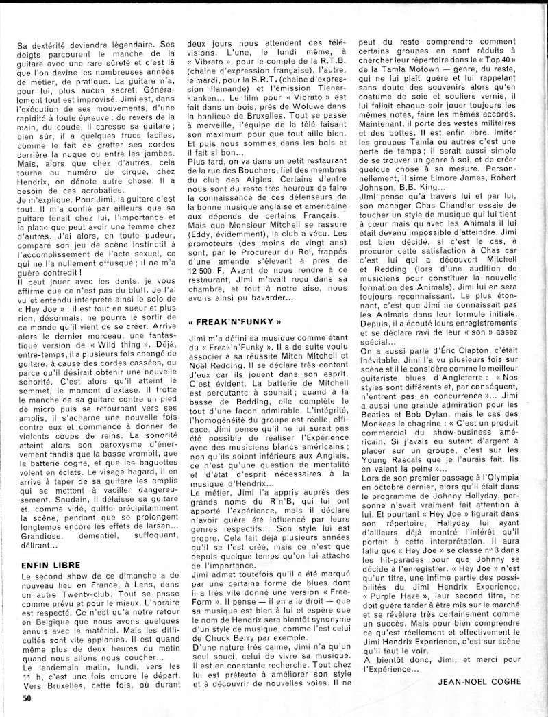 Tournée franco-belge de 1967 : chronique de Jean-Noël Coghe 2-tour10